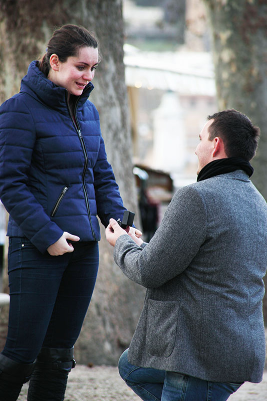 David and Mary wedding proposal