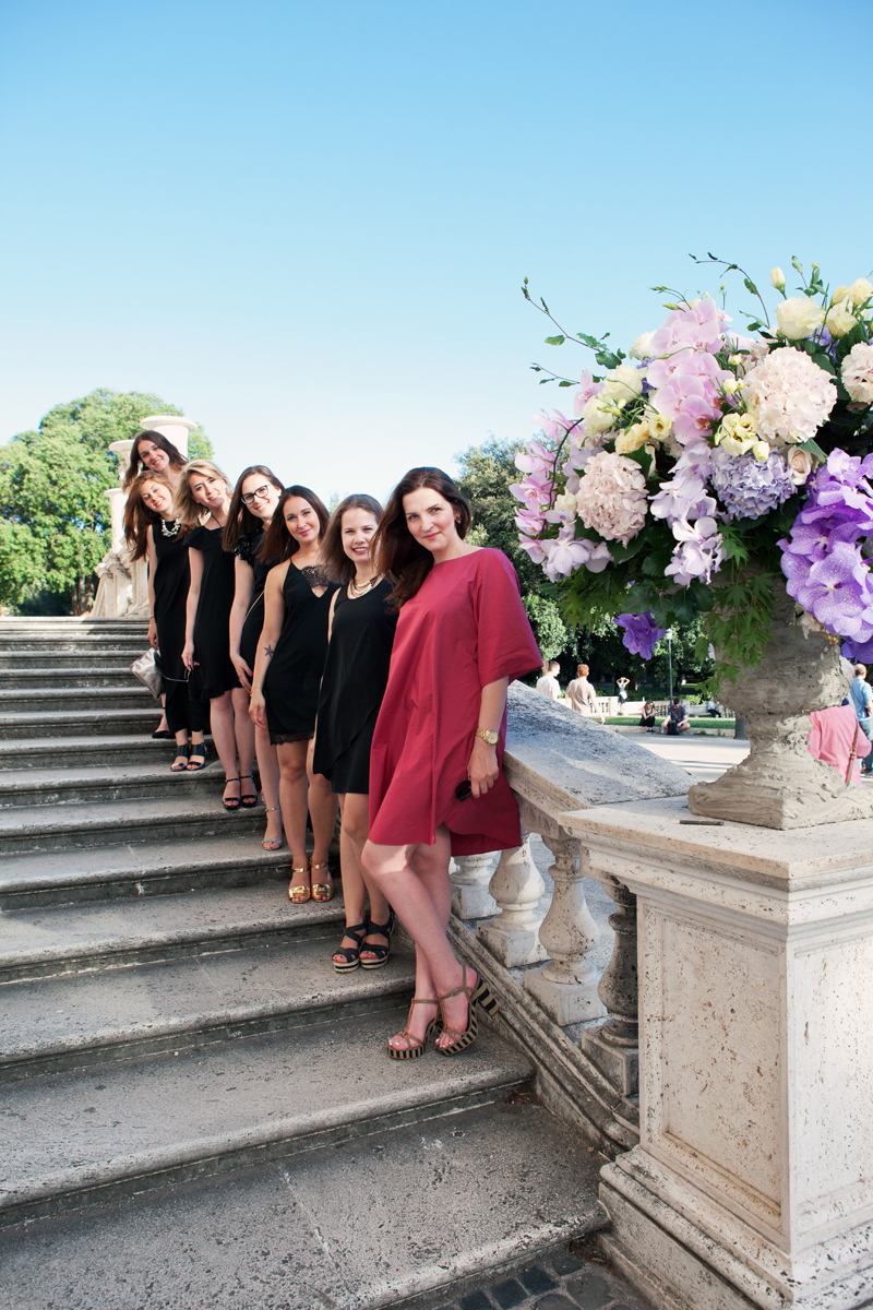 Seven Latvian Nymphs in Rome