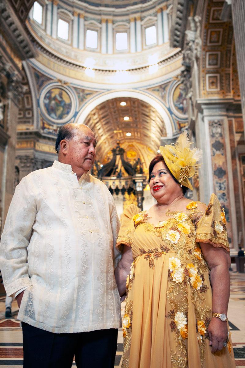 A Filipino Golden Wedding Anniversary in St. Peter's Basilica